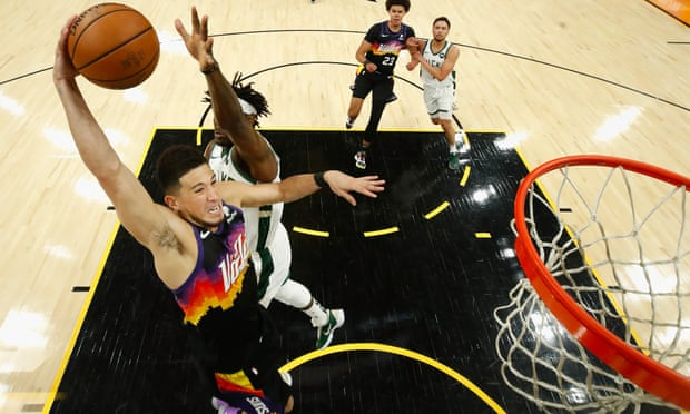 Devin Booker and Phoenix Suns torch Bucks to go halfway home in NBA finals