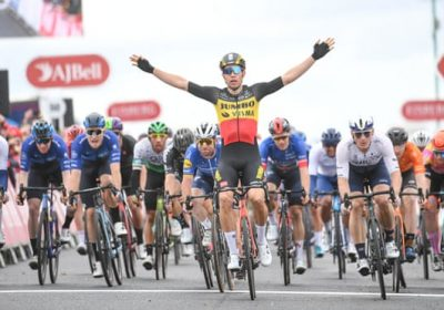 Wout van Aert powers to late Tour of Britain triumph in dramatic finale