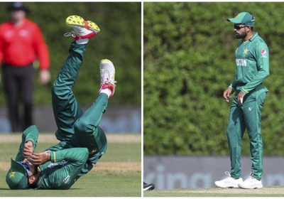 You have grown old: Watch Babar Azam troll Shadab Khan on-field during PAK vs WI warm-up